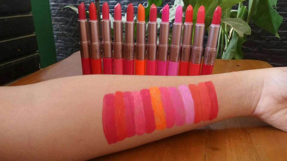 NAKED7 Lipstick 2in1 ( lipstick + lipgloss ) naked 7 (Harga Per 6pcs) Lipstik dan Pensil Bibir - Lip Color & Lip Care - Liptick Kece - Lipstick Murah - Alat Make Up Terpopuler - Best Seller