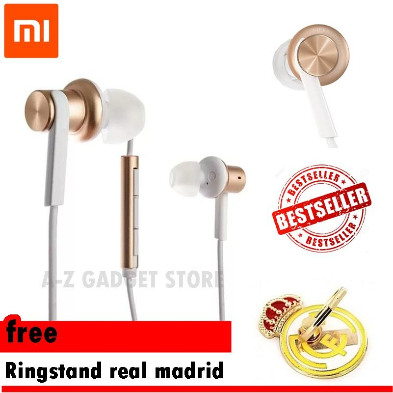 Headset Xiaomi piston 4 Hybrid free Ringstand Hp Real Madrid  -  Gold