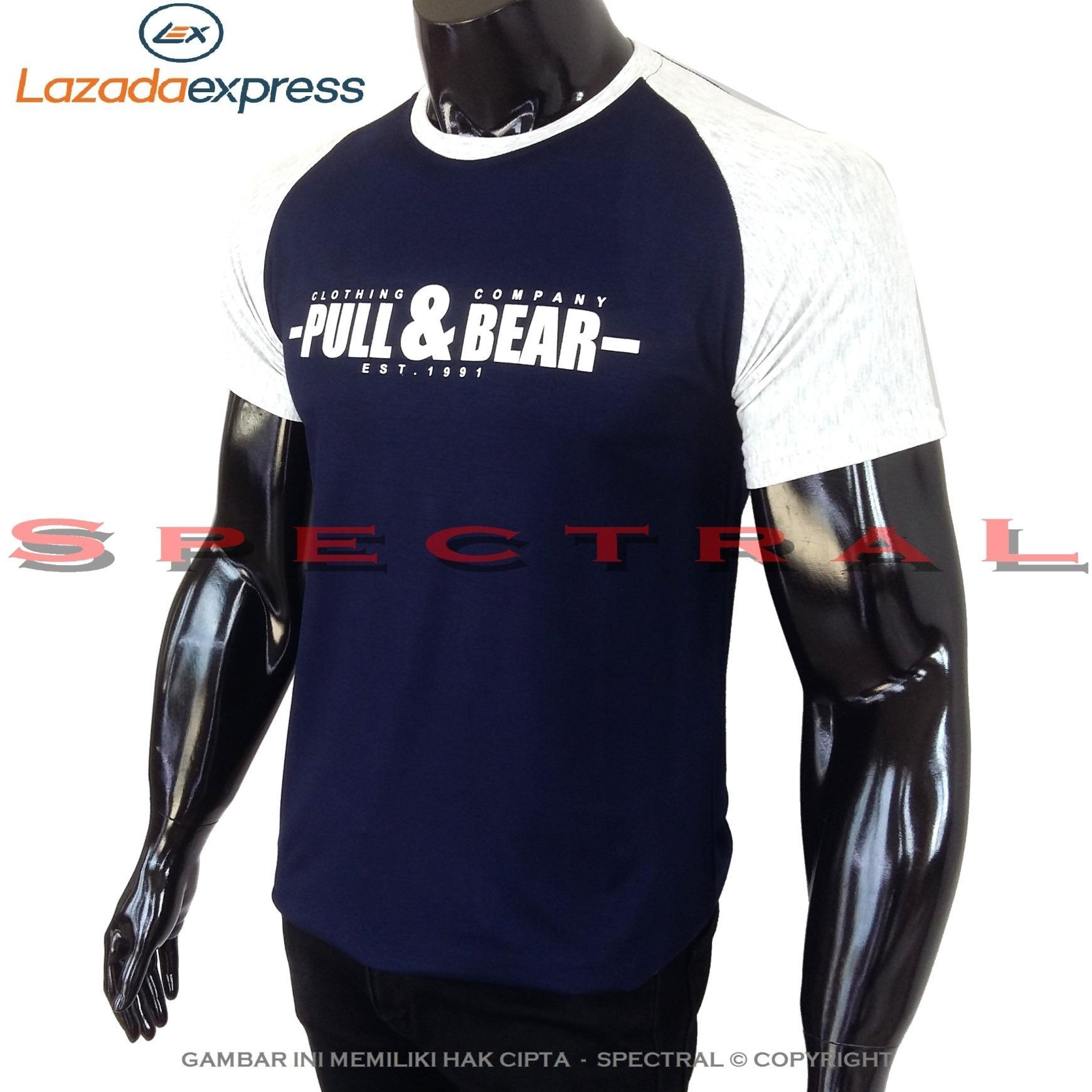 Spectral – RAGLAN PULL & BEAR M Fit To L Soft Rayon Lycra Viscose Kaos Distro Fashion T-Shirt Atasan Baju Pakaian Polos Shirt Pria Wanita Cewe Cowo  Lengan Murah Bagus Keren Jaman Kekinian Jakarta Bandung Tumblr Gambar Merek Tulisan Reglan Kombinasi