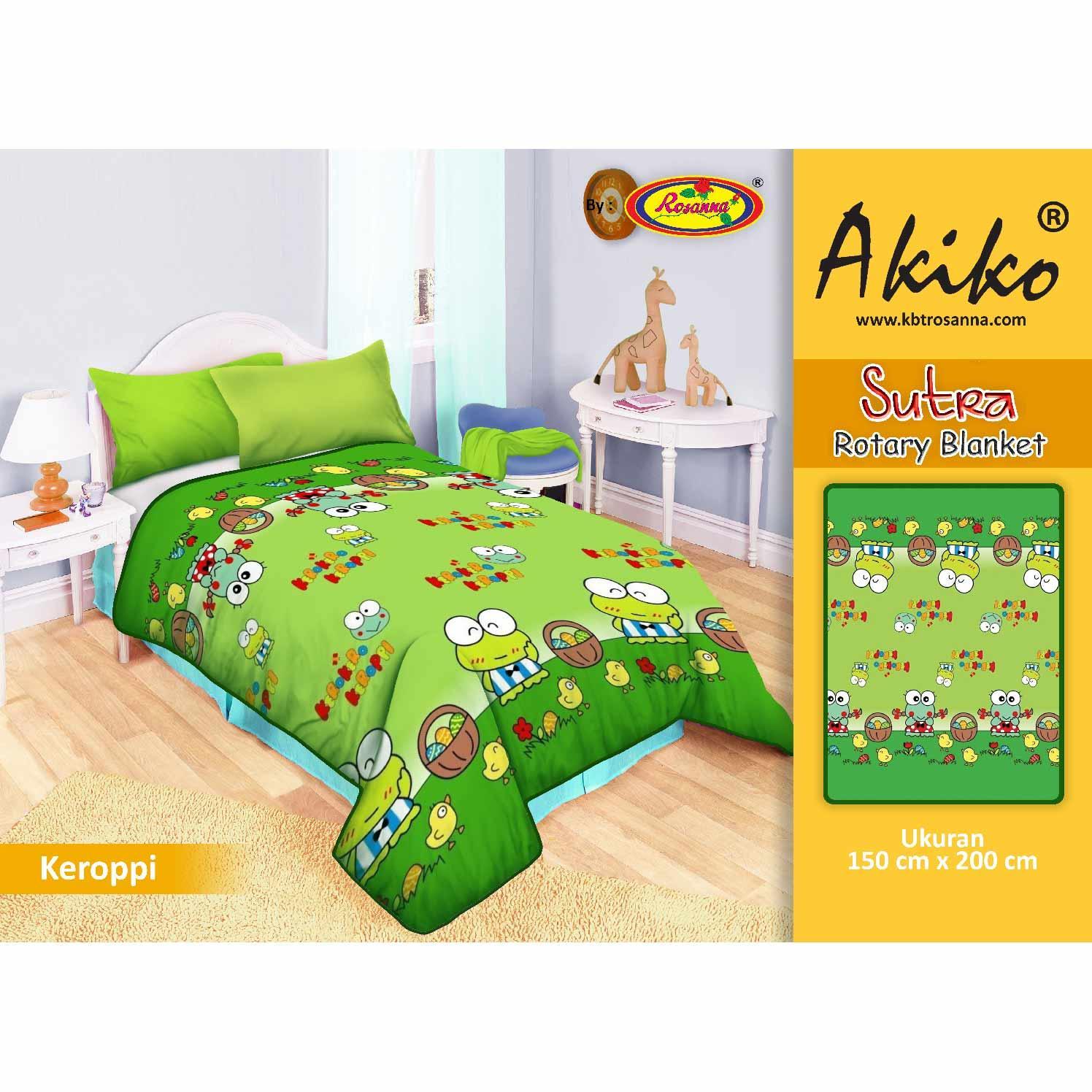 Selimut Rosanna Sutra Panel 150x200 Keroppi Fan Daftar Harga Vito Kids 100x140 Akiko Rotary