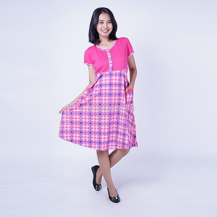 Ning Ayu Daster Hamil Kaos Kotak - DS 450 / Baju Hamil untuk kerja Lengan Panjang / Baju Hamil Seksi / Baju Hamil Gamis / Baju Menyusui Modis / Baju menyusui Murah / Baju Menyusui Terbaru / Baju Menyusui Keren