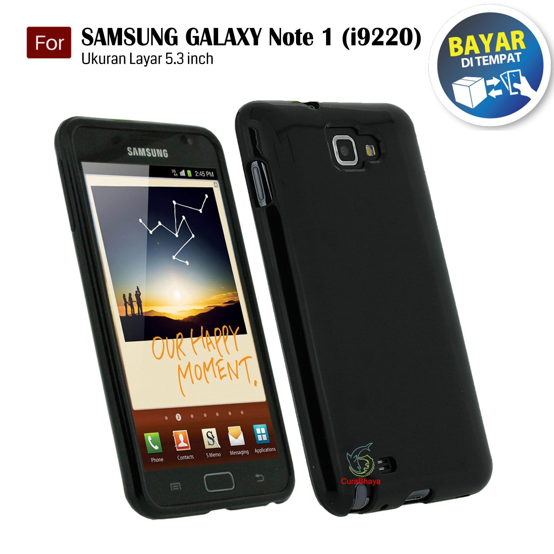MidNight Samsung Galaxy Note 1 / N7000 / i9220   Slim Case Black Matte Softcase Premium Baby Skin - Hitam