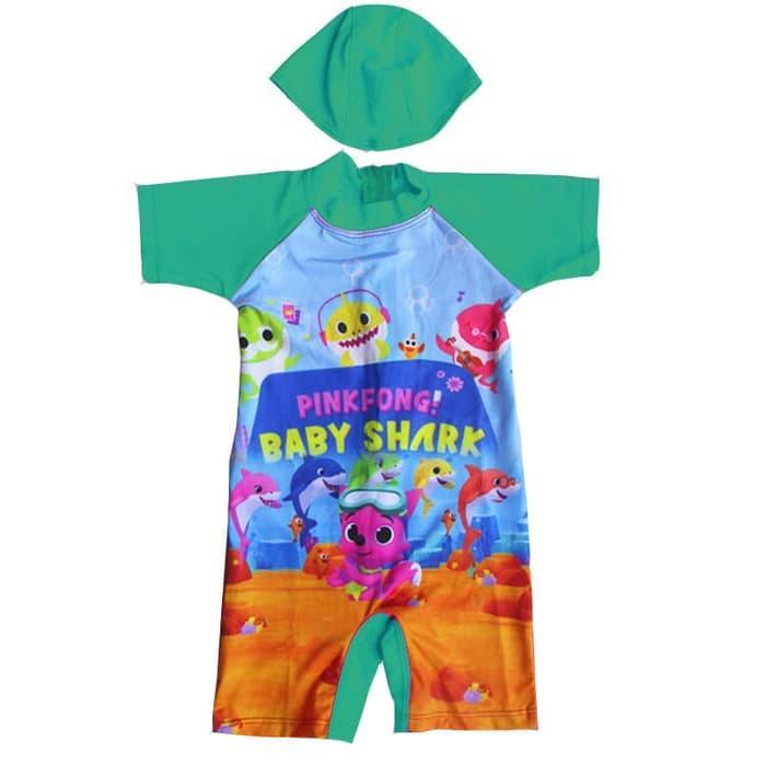 Baju Renang Bayi Karakter Baby Shark Cantik Banget- K051