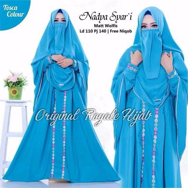 Baju Wanita Baju Gamis Baju Muslim Nadya Syari + Hijab Kerudung
