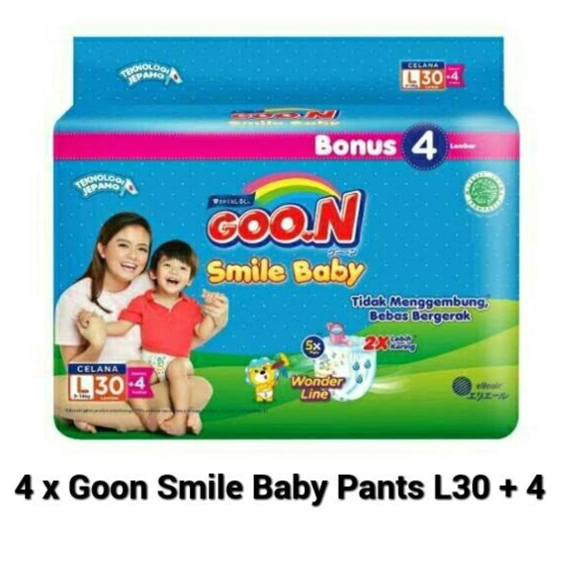 Goon Smile Baby Pants L30+4 [ ISI 4 PACKS ]