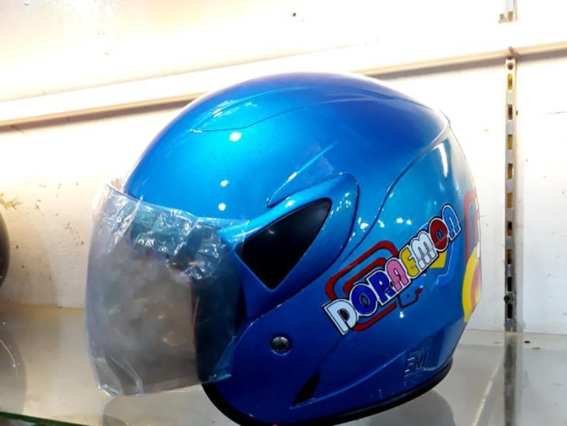 Helem untuk anak anak KOP Junior Karakter Doraemon - Ice Blue
