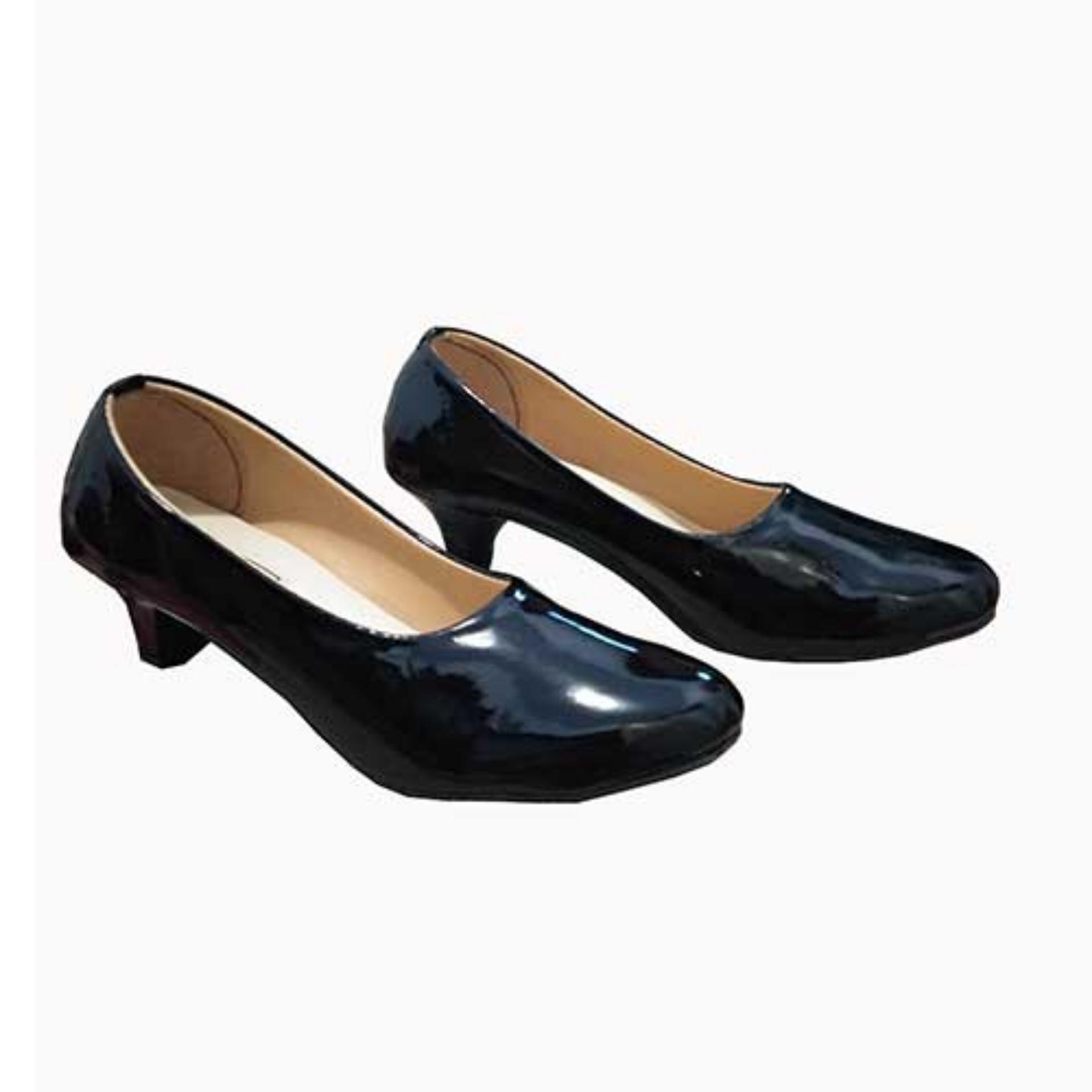 Own Works Sepatu Kerja Pantofel High Heels Wanita BB01 - Hitam