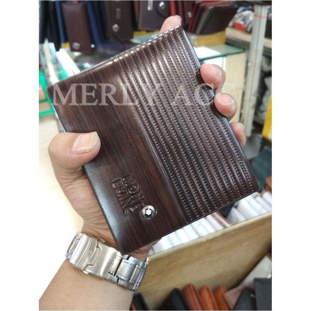 Dompet Kulit Pria Import MONT BLANC Original with BOX FA027 - Coklat aebcb40491