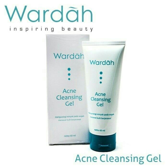 Wardah Acne Cleansing Gel (60ml) - Penghilang Jerawat Pembersih Wajah