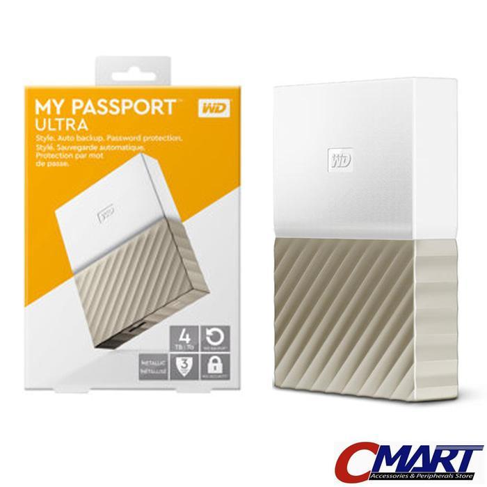 ORIGINAL - WD MyPassport Ultra 4TB - HD HDD Hardisk Harddisk External Eksternal