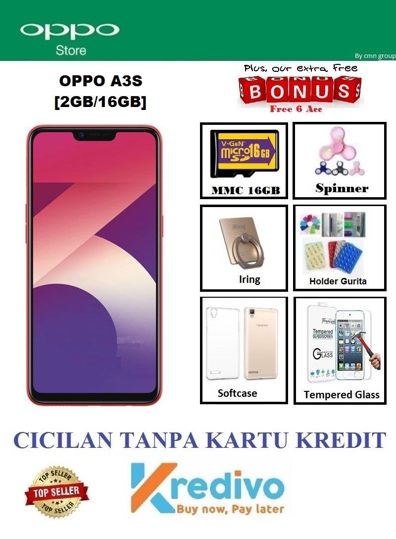 Oppo A3S Ram 2GB/16GB - Cicilan Tanpa Kartu Kredit + Extra Bonus 6 Acc