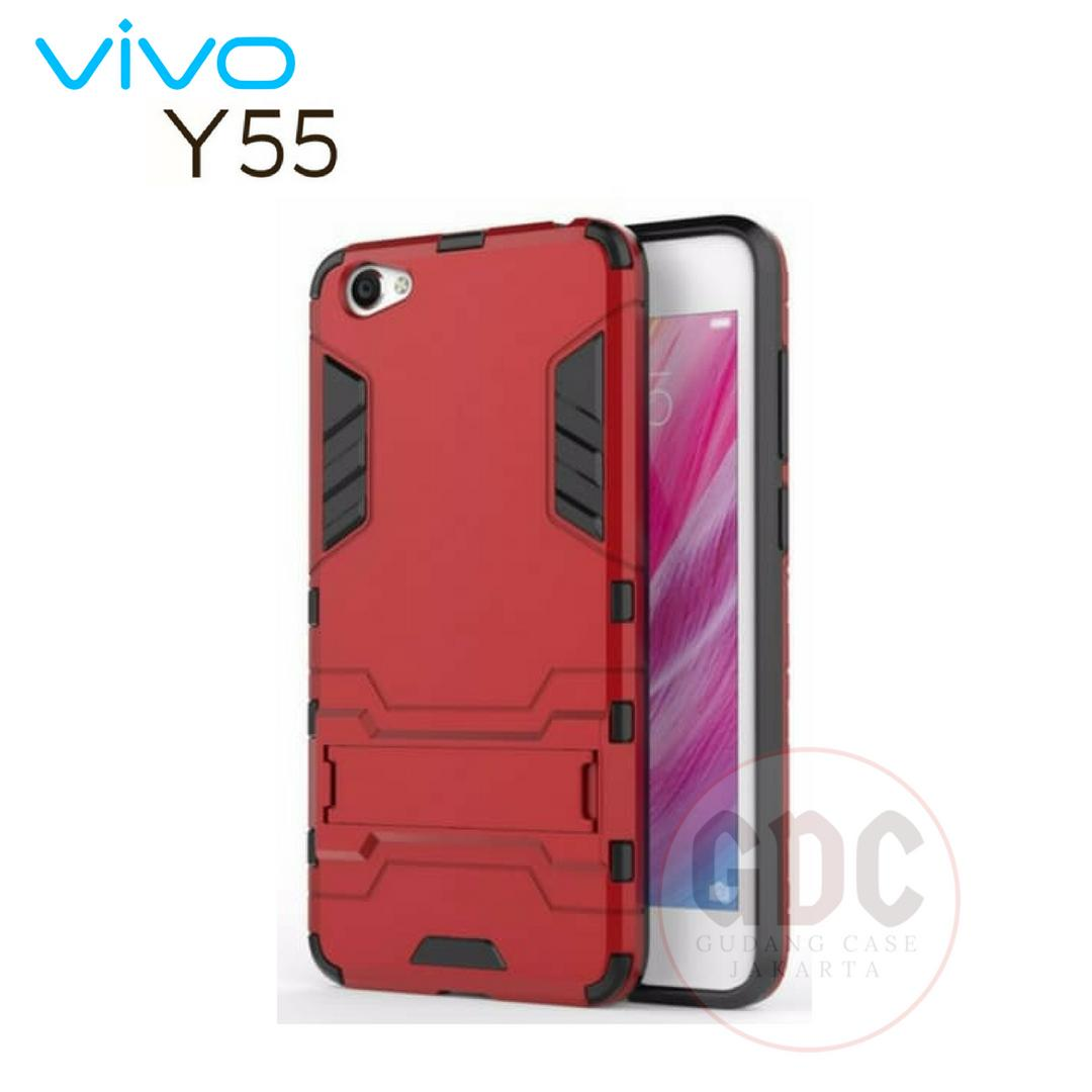 Vivo Y55 / Y55s Case Ironman Hybrid Series With Kick Stand