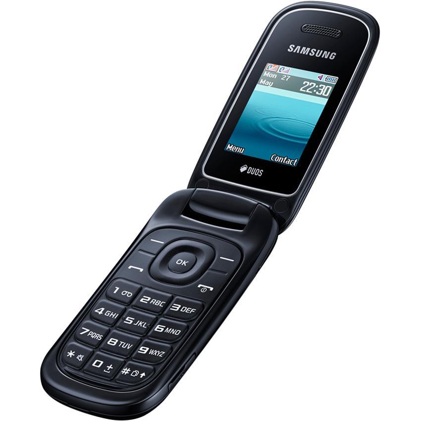 Samsung Caramel Flip E1272 - Refurbish - HITAM