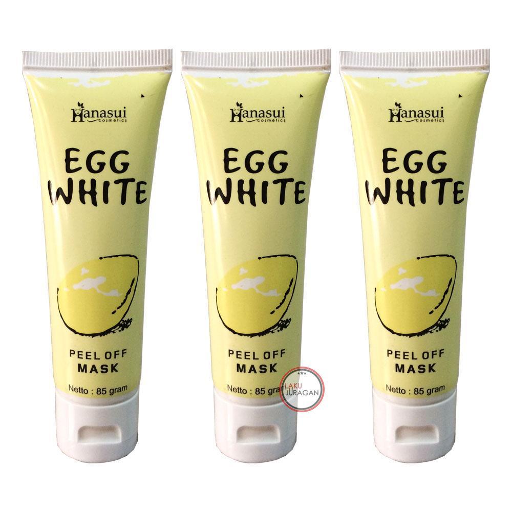 HANASUI EGG WHITE PEEL OFF MASK / HANASUI EGGWHITE / Masker Putih Telur / Masker Telur / Masker Waj