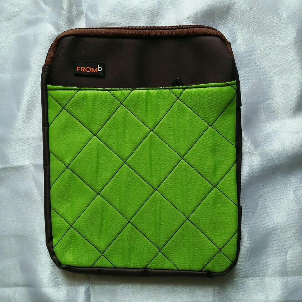 Pouch ipad organizer dompet hp hijau neon