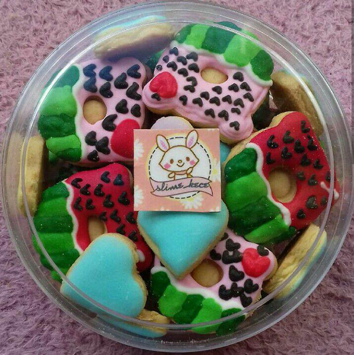 Cookies squishy donat semangka