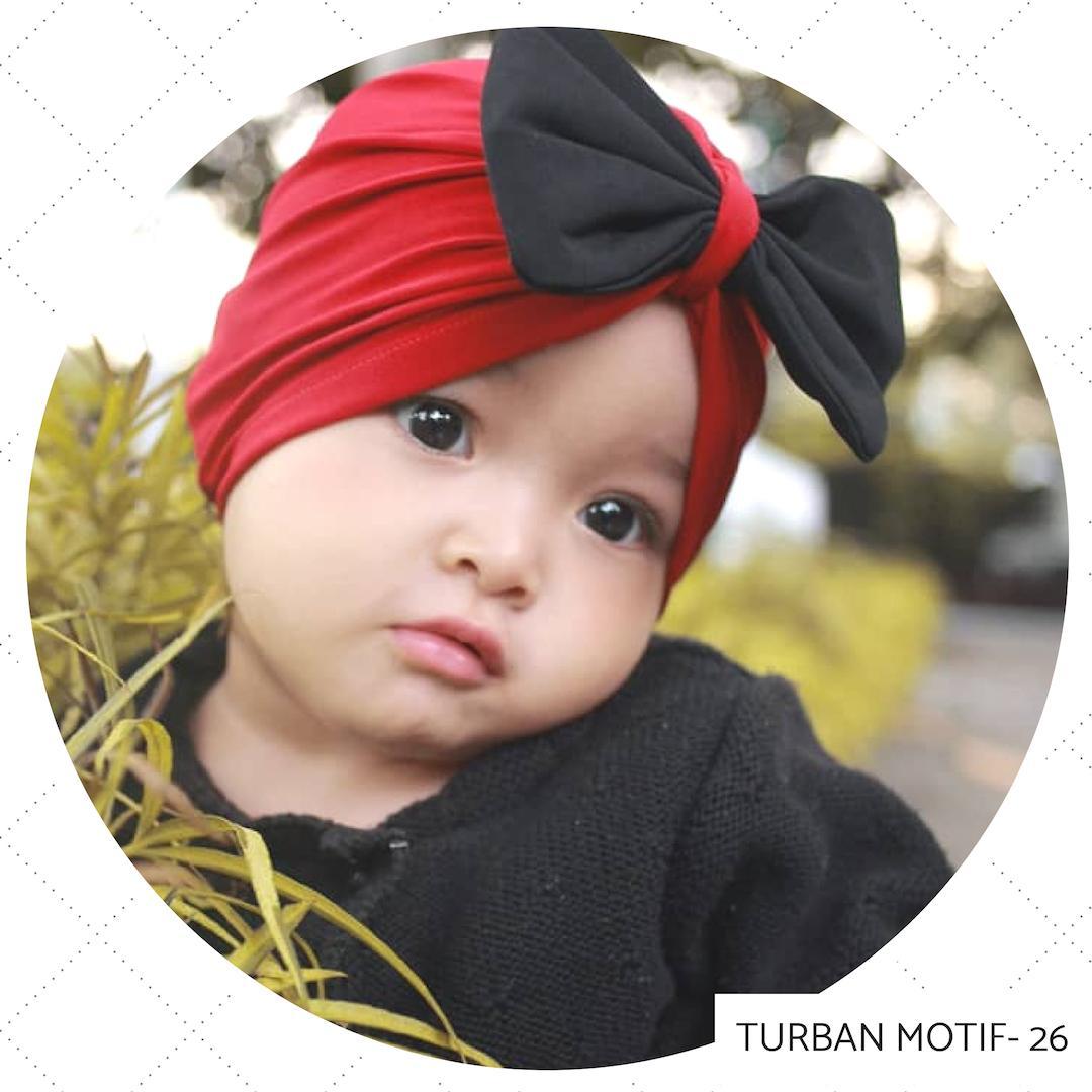 LittleAnnasya - Turban Bayi Perempuan / Turban Anak Pesta / Turban Pesta / Turban / Turban
