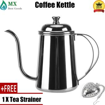 Harga preferensial [free gift] 650ML Stainless Steel Gooseneck Spout Kettle Pour Over Coffee Tea