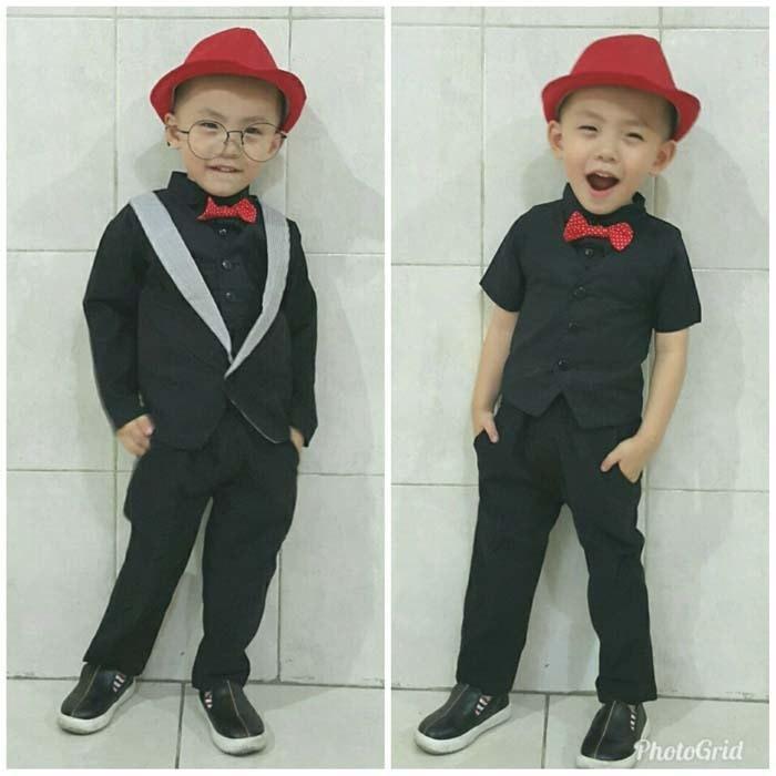 Setelan Jas Anak Bayi Baju Kondangan Bayi Tuxedo Bayi - Marcel
