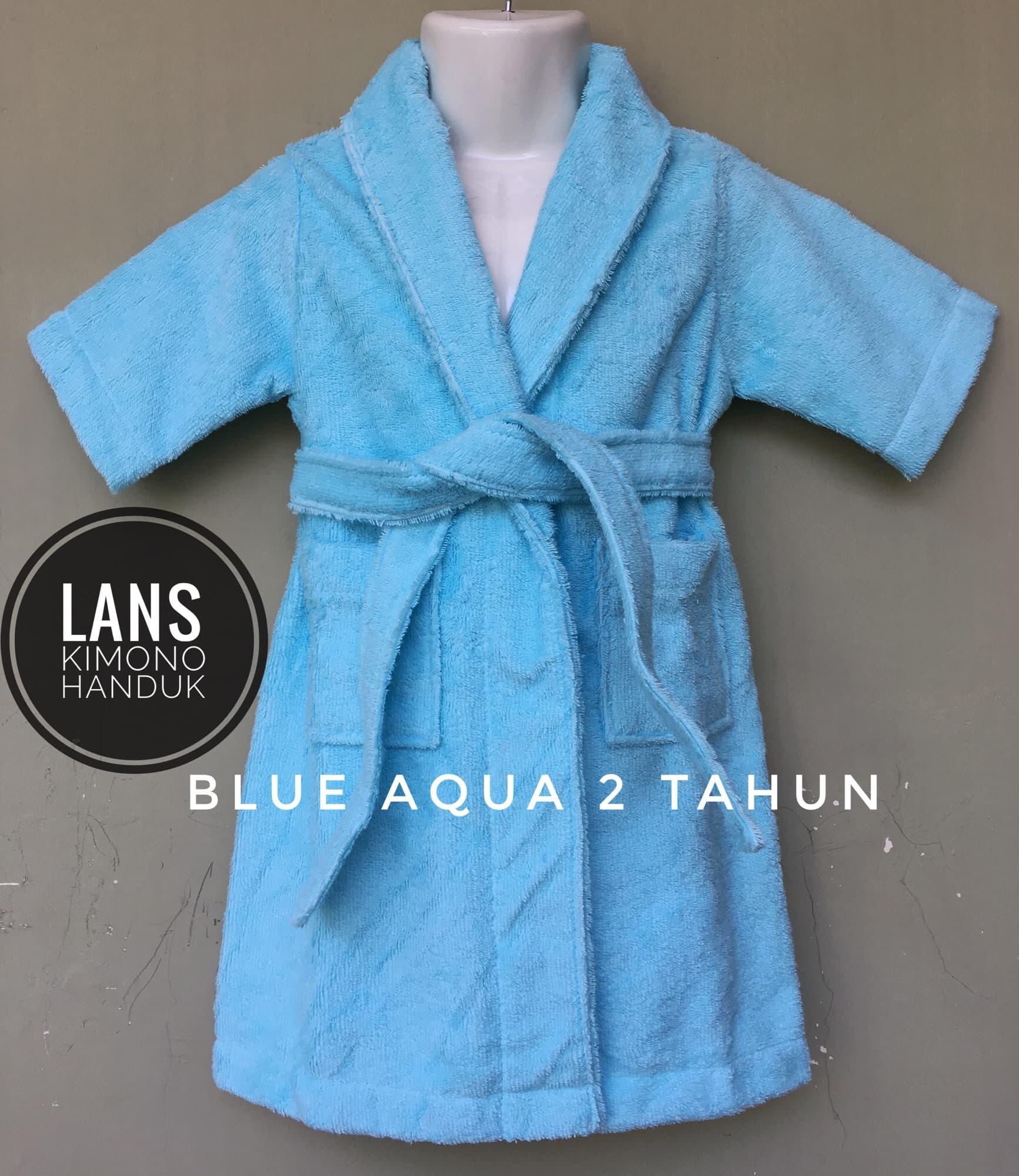 Review handuk kimono anak 2 tahun - Green Mint