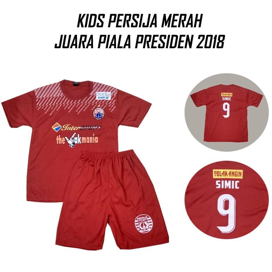 SETELAN KIDS LOKAL PERSIJA JAKARTA HOME / MERAH GRADE LOKAL