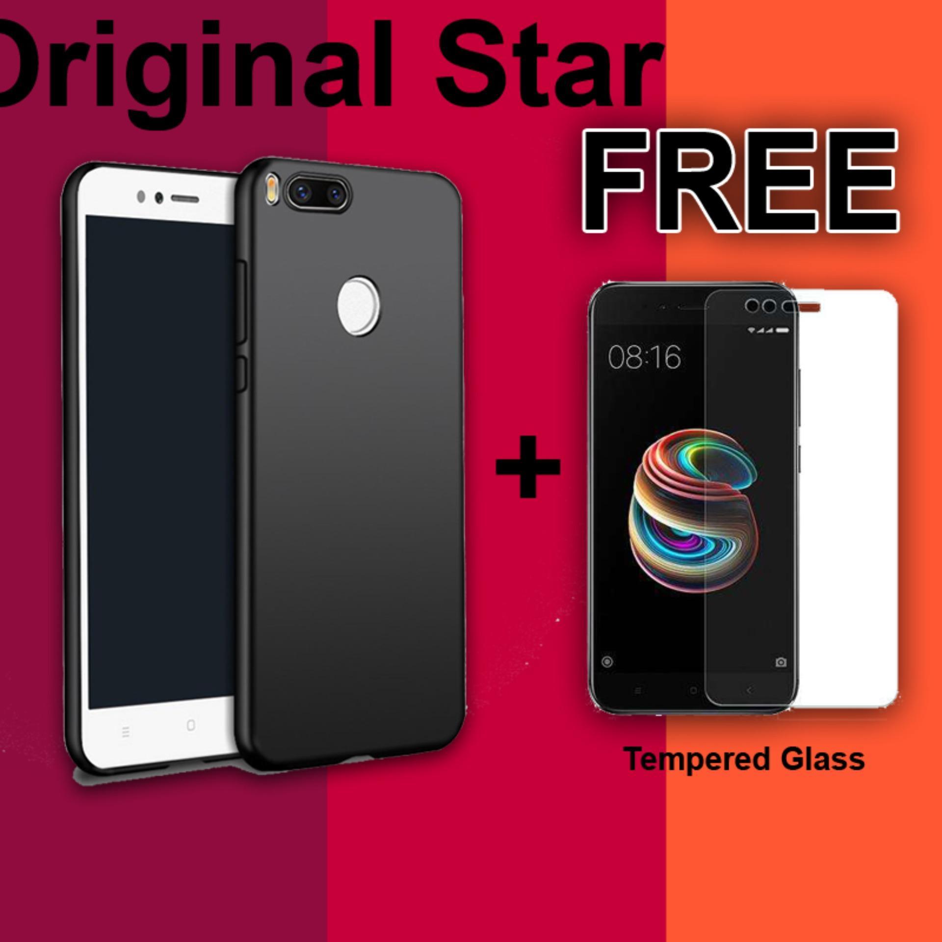 Original Softcase Anti Minyak Casing Black Matte Case Xiaomi A1 Ultraslim Anti Sidik Jari FREE Temp