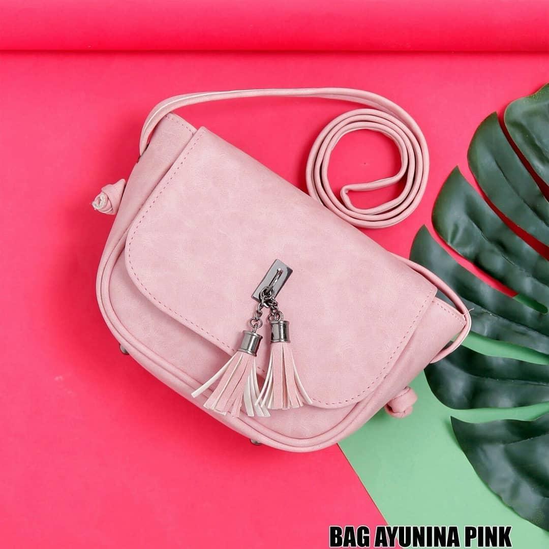 Ubay Shop Tas sling Bag Gantungan Tassel Sling Mini Bag