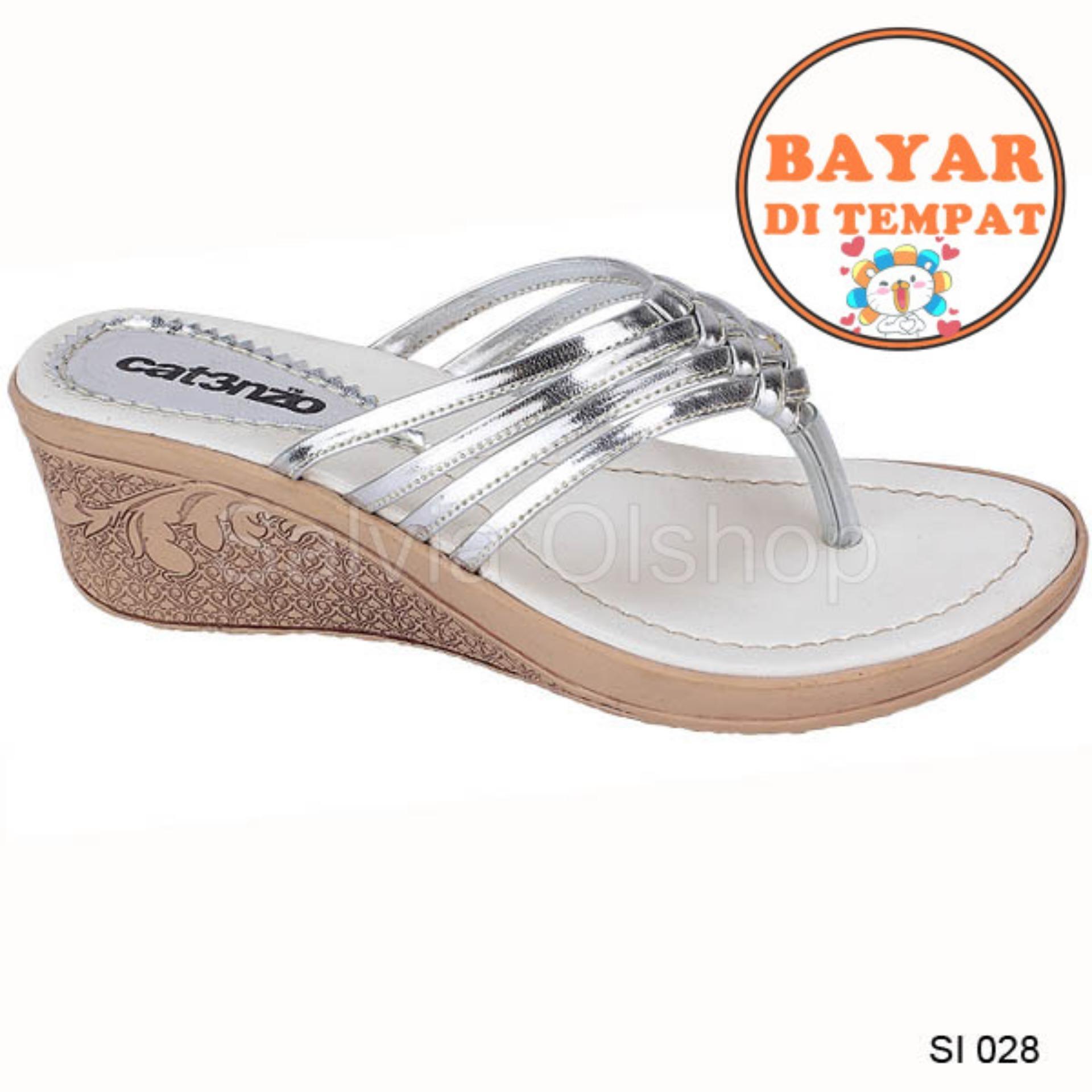 Catenzo Sandal Flat / Selop Wanita Cantik Dan Modis SI 028 - Perak