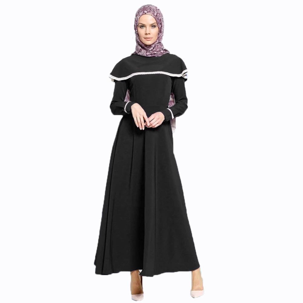 Jfashion Long dress Gamis Maxi variasi Renda  tangan Panjang -  Vinka