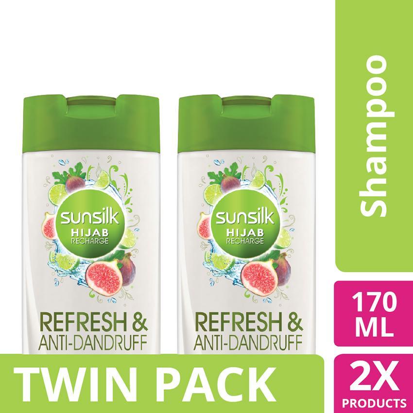 Sunsilk Hijab Refresh & Hairfall* Solution Shampoo 170ml - twinpack