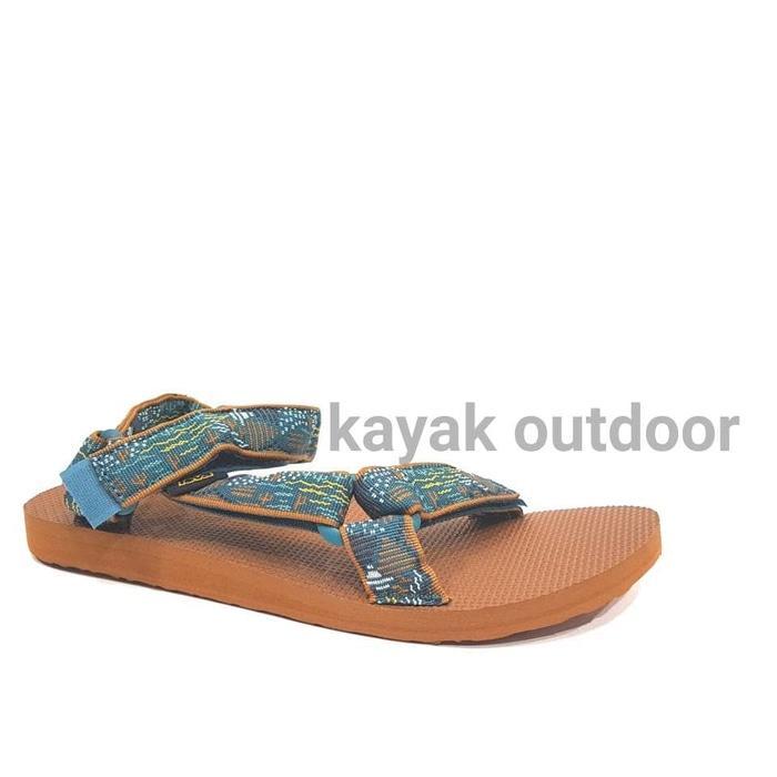 Sedang Diskon!! Sandal Gunung Outdoor Teva Men Original Universal Duncan Murah - Teal, 40 - ready s