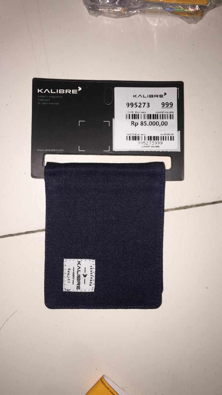 Kalibre 995234999 Dompet Tidur Kanvas Tipis Pria Abu Men Wallet GreyIDR75000. Rp 85.000