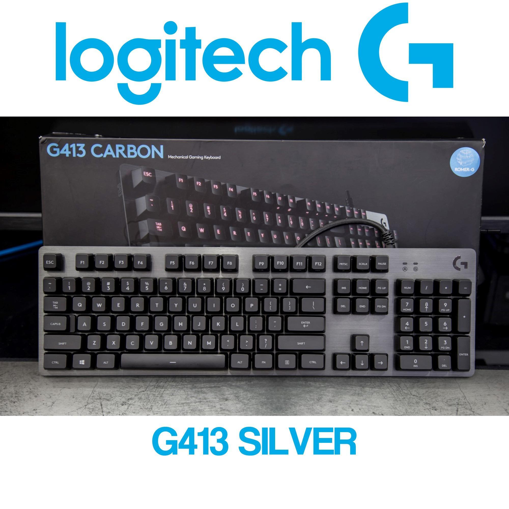 Logitech G413 SIlver Mechanical Gaming Keyboard