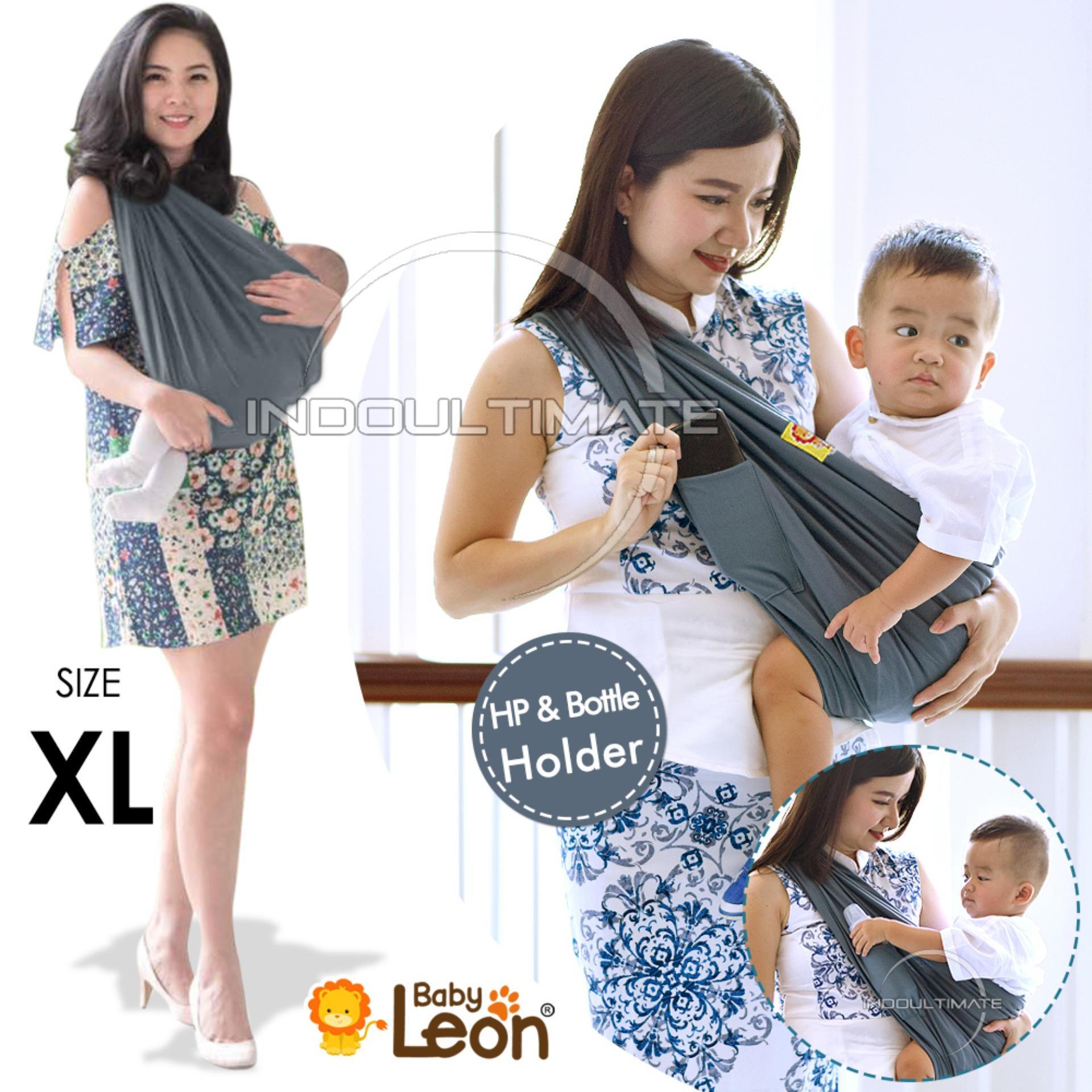 Baby Leon Gendongan Bayi Kaos/geos/selendang Bayi Praktis By 44 Gb Polos Ukuran Xl By Indo Ultimate.