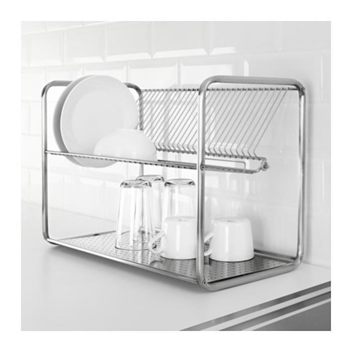 IKEA ORDNING Rak Baja Pengering Peniris Piring Cuci Gelas Sendok Makan