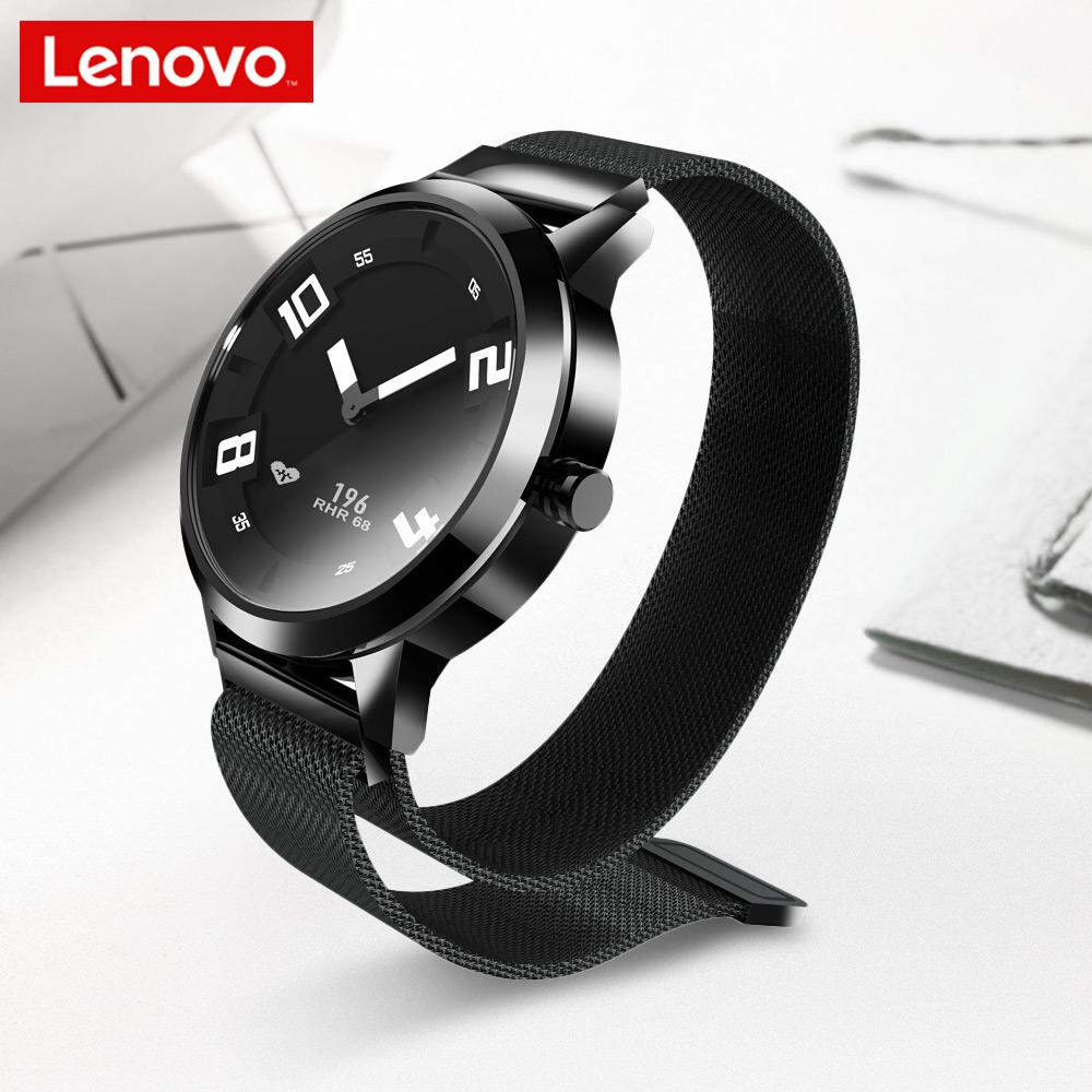 Original Lenovo Watch X Quartz Smartwatch 8ATM Water Resistant Milanese Strap Bluetooth 5.0 Sapphire Glass Heart