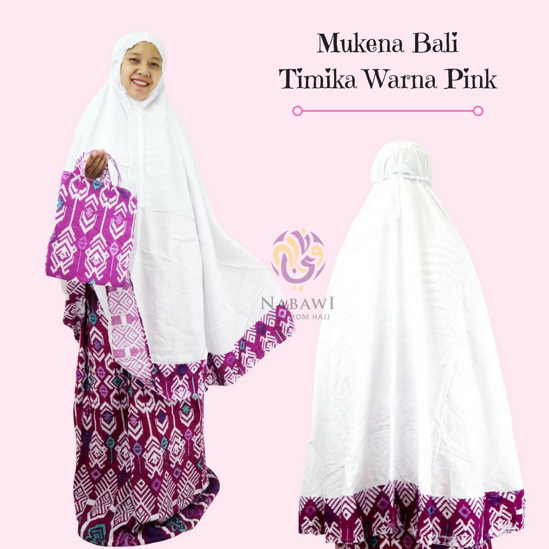 Mukena Mukenah Setelan Katun Bali Motif Batik Timika Warna Jumbo Oleh Oleh Haji dan Umroh