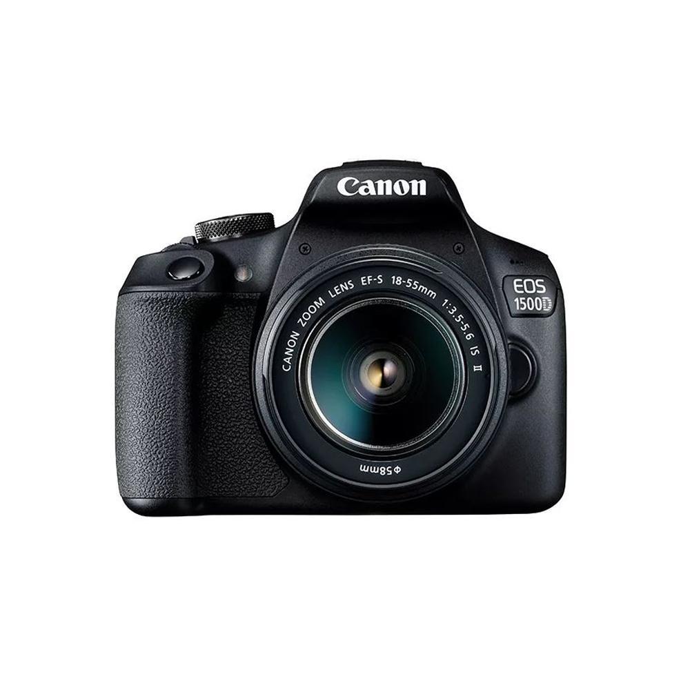 Canon EOS 1500D Kit 18-55 IS II Kamera DSLR - Black [WiFi] Resmi