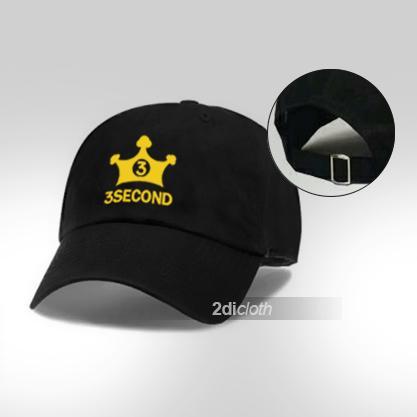 Topi baseball 3second yellow logo premium black