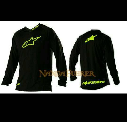 HOT SPESIAL!!! JERSEY SEPEDA Downhill & Trail AlpineStar Greenlight Size M,L,XL Hitam - TbDJ6d