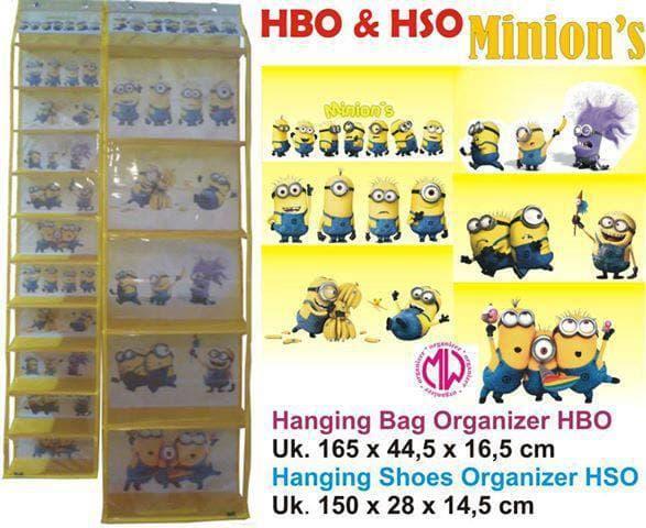 1 Set Hanging Bag Shoes Organizer Rak Tas Sepatu Gantung Minion