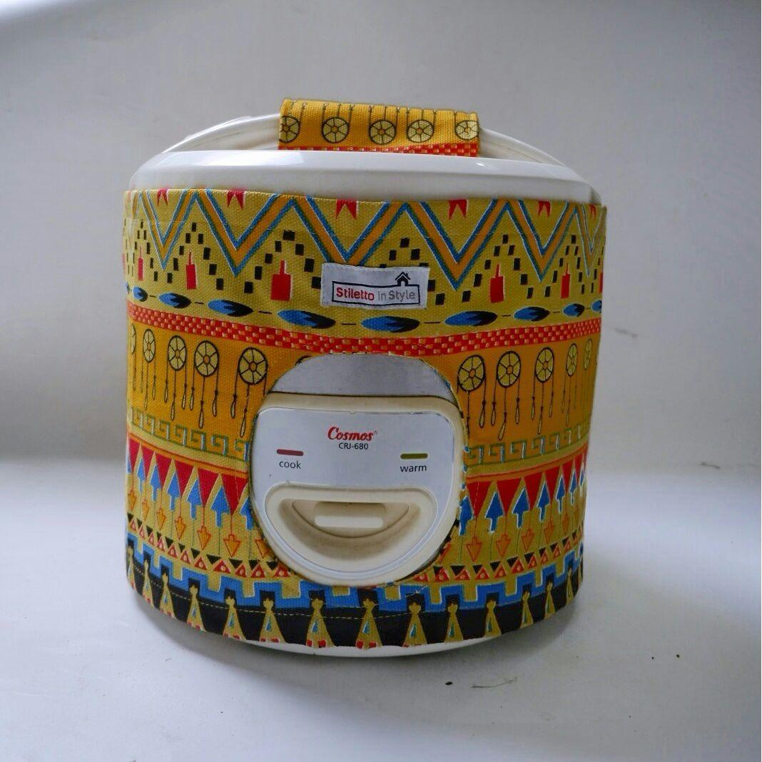 Cover Rice Cookers / Cover Magic Com - Aztec Kuning
