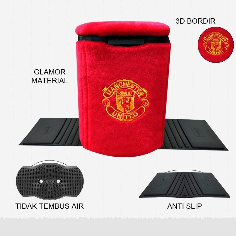 Tempat Sampah Mobil MU - Aksesoris Mobil Manchester United - Aksesoris Interior Bola