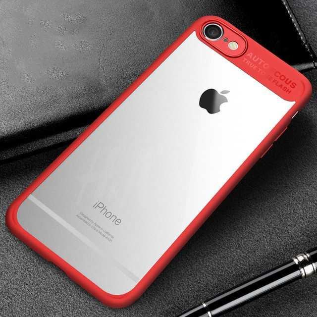 Best- seller / Transparent Full Protective Hardcase for iPhone 7/8/iPhone 7 Plus / 8 Plus/Merah