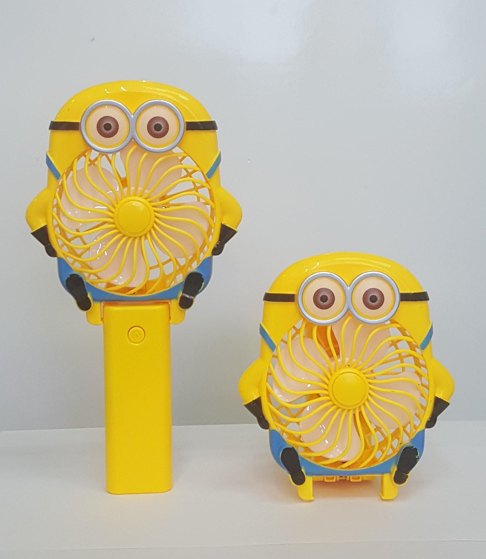 Paling di cari Kipas Angin Mini Portable Karakter Minion Travel Fresh Summer Desk Mini Fan