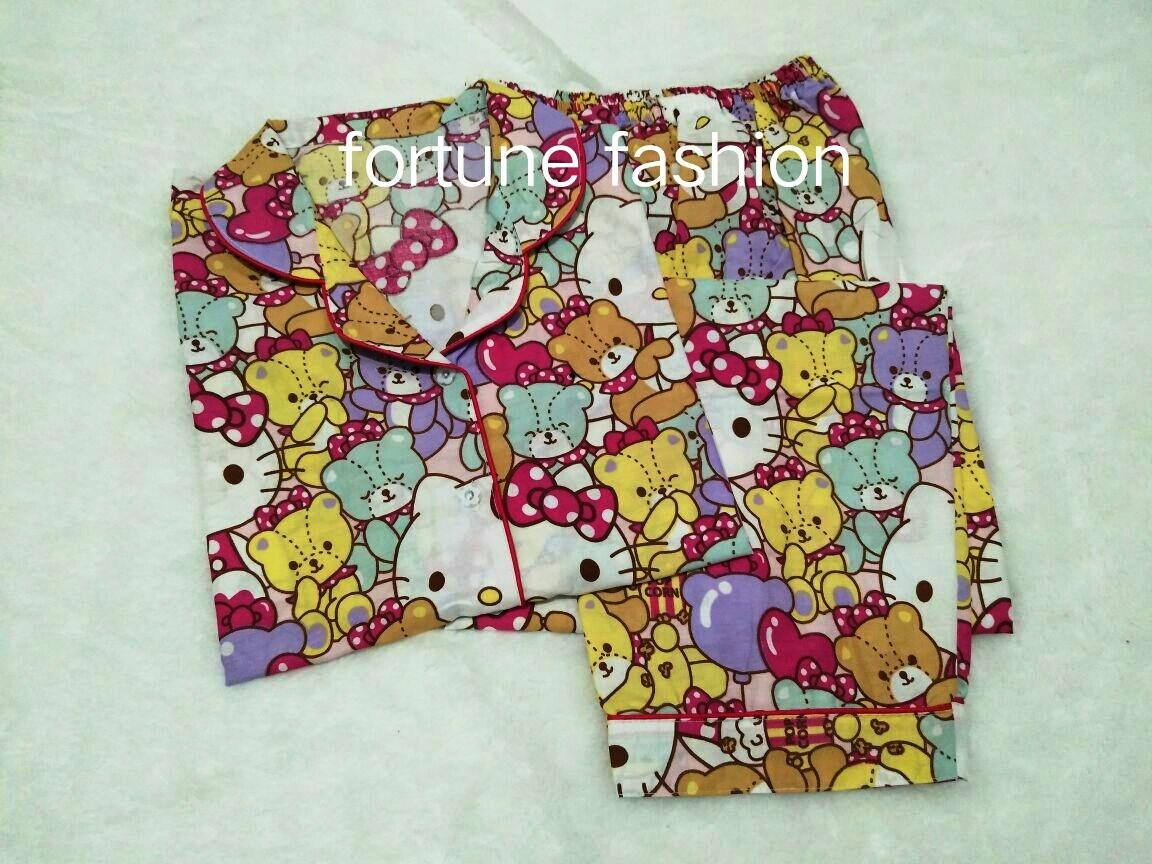 Fortune Fashion Piyama CP City And Bears / Piyama Murah / Piyama Karakter / Baju Santai