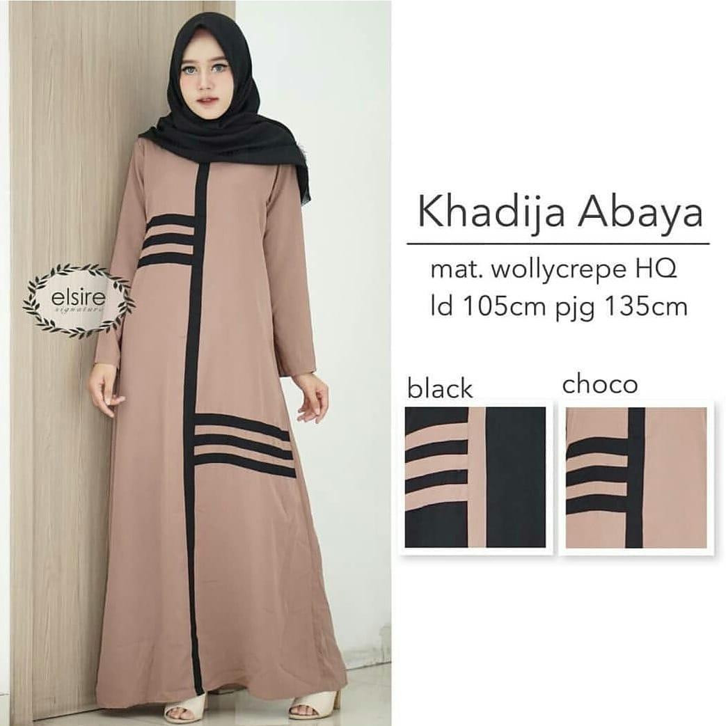 Baju Original Gamis Khadija Abaya Dress Balotelly Baju Muslim Terbaru 2018 Baju Wanita Gamis Casual Baju Terusan Panjang Gaun Pesta Murah Remaja