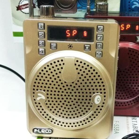 FLECO 558 ORIGINAL bonus mic BANDO Waistband MEGAPHONE PA speaker meting mini pinggang microphone c