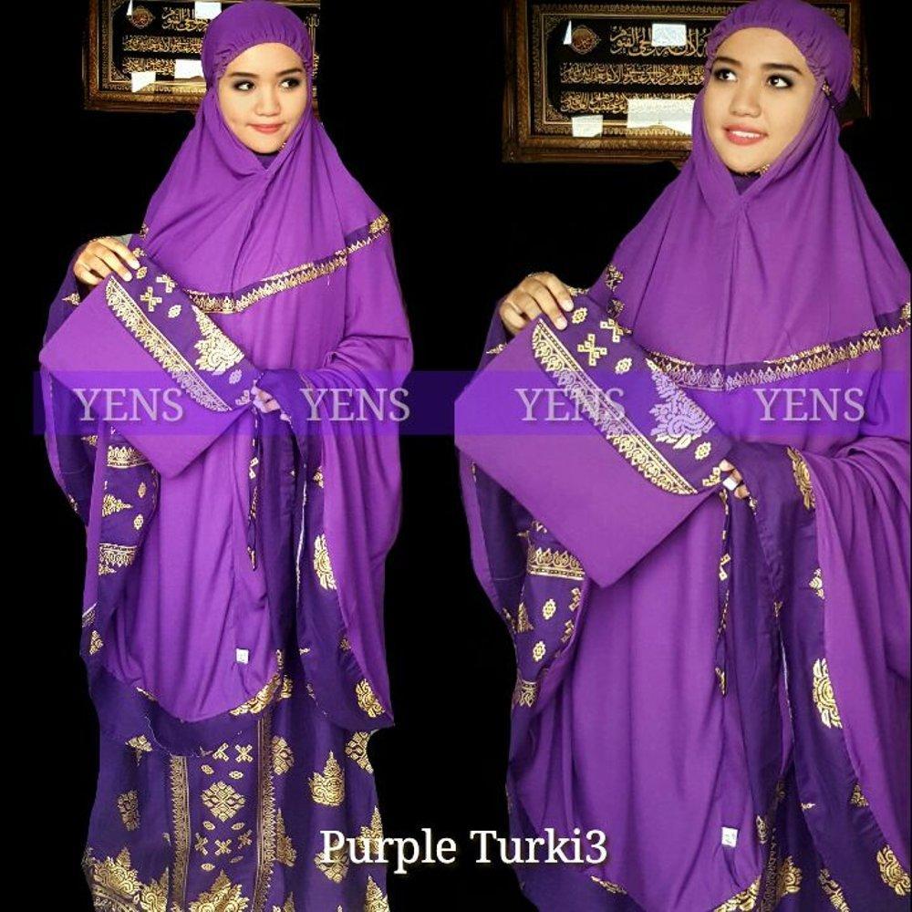 Mukena Batik Songket Bali Jumbo Ungu Turki3 di lapak Grosir mukena grosirmukena880