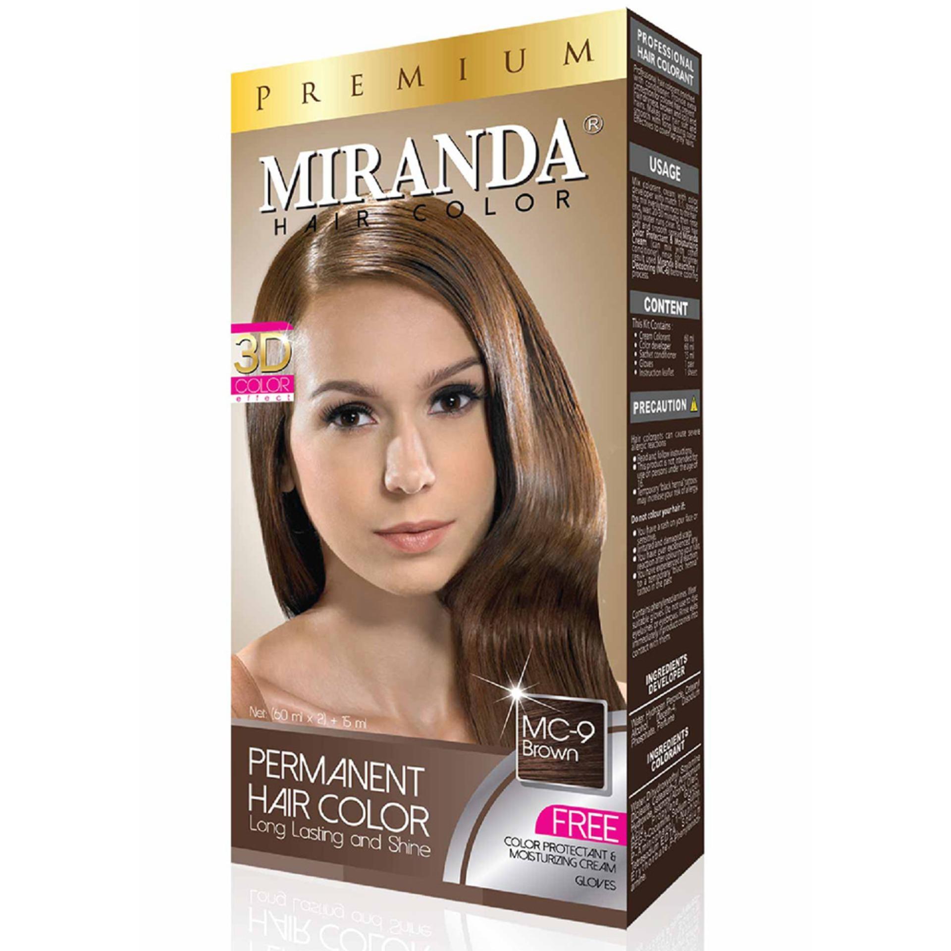 Miranda Permanent Hair Color Cat Rambut MC-9 - Brown